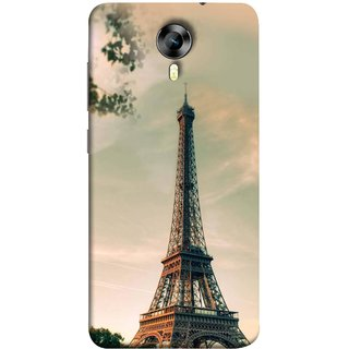 FUSON Designer Back Case Cover for Micromax Canvas Xpress 2 E313 ( Paris Sunrise France Tourist Place Hd Wallpaper)