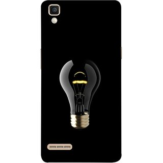 FUSON Designer Back Case Cover for Oppo F1 :: A35 (Hanging Light Bulb In Dark Room Ceiling Darkness )