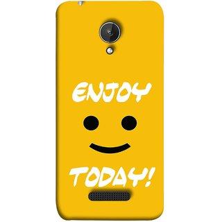 FUSON Designer Back Case Cover for Micromax Canvas Spark Q380 (Big Smiley Smiling Positive Wallpaper Back Cover)