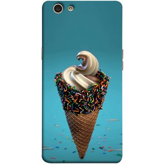 FUSON Designer Back Case Cover for Oppo F1s (Pinky Frosted Sprinkled Waffle Cone Crispy Coffee Flavour)