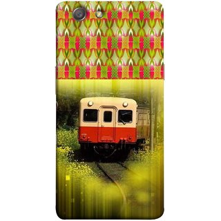 FUSON Designer Back Case Cover for Oppo Neo 5 :: Oppo A31 :: Oppo Neo 5S 2015 (Old Trains Sunshine Yellow Flowers Express Mail )