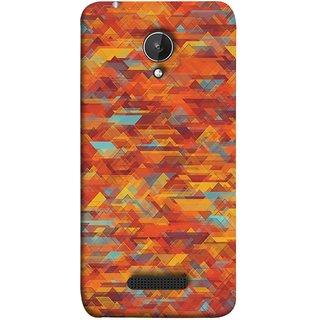 FUSON Designer Back Case Cover for Micromax Canvas Spark Q380 (Geometric Watercolour Art Print Pink Bright)