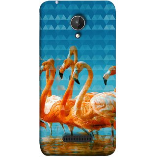 FUSON Designer Back Case Cover for Micromax Canvas Spark Q380 (Animal Birds Long Beak Beautiful Wallpaper Designs)