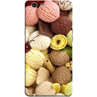 FUSON Designer Back Case Cover for Oppo F1s (Cool Desserts Flavors Banana Chocolate Chips)