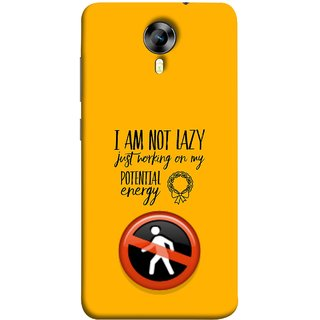 FUSON Designer Back Case Cover for Micromax Canvas Xpress 2 E313 (Potential Energy Your Emotions No Walk Sign)