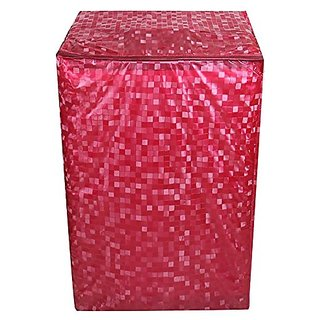 Delfi Classic Red Colour With Square Design Top Load Washing Machine Cover (Suitable For 6 kg, 6.5 kg, 7 kg, 7.5 kg)