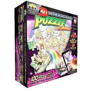 Popar Princess Castle 3D Interactive Puzzle Game 100 Pieces