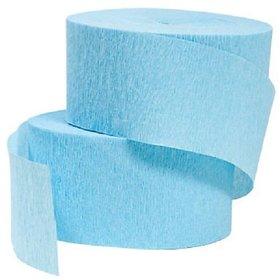 4 Rolls, Light Blue / Sky Blue / Baby Blue Crepe Paper