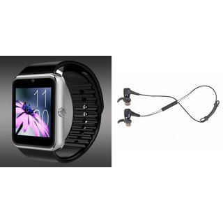 Mirza GT08 Smart Watch and Reflect Earphone  for LENOVO a800(GT08 Smart Watch with 4G sim card, camera, memory card |Reflect  Earphone )