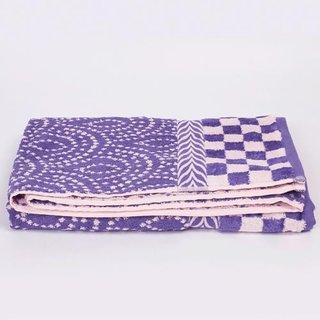 Bouiz cotton bath towel in blue color