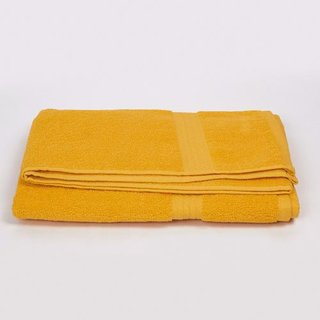Habra cotton bath towel in yellow color