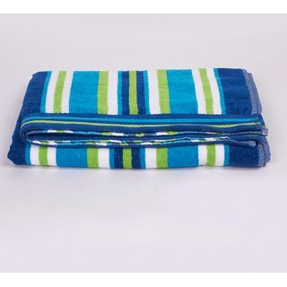 Ishaq cotton bath towel in torquoise color