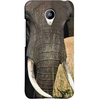 FUSON Designer Back Case Cover for Meizu M3 (Close Up Portrait Of A Baby Elephant Long Ears Strips Forest)