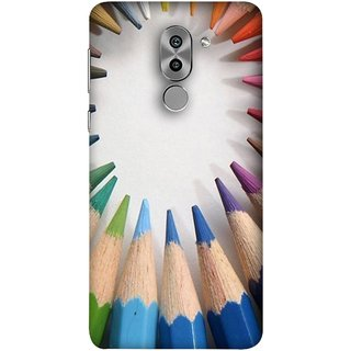 FUSON Designer Back Case Cover For Huawei Honor 6X (Color Circle Bunch Of Pencil Boys Girls Childrens School)