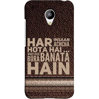 FUSON Designer Back Case Cover for Meizu M3 (Waqt Usse Bura Banata Hai Brown Background)