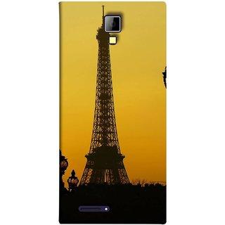 FUSON Designer Back Case Cover for Micromax Canvas Xpress A99 :: Micromax A99 Canvas Xpress (Bridge Eiffel Tower France Paris Ornate Lamp)