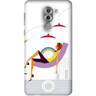 FUSON Designer Back Case Cover For Huawei Honor 6X (Office Lights Shoes Mordern Speakers Beauty Parlor)