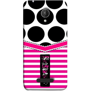FUSON Designer Back Case Cover for Micromax Canvas Spark Q380 (Beautiful Cute Nice Couples Pink Design Paper Girly I)