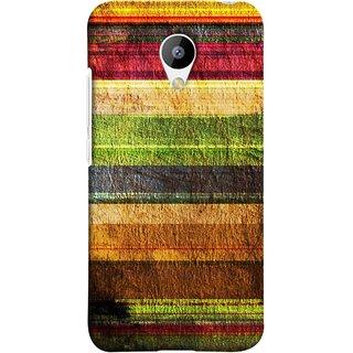 FUSON Designer Back Case Cover for Meizu M3 (Horizontal Rainbow Painted Brush Strokes Art)