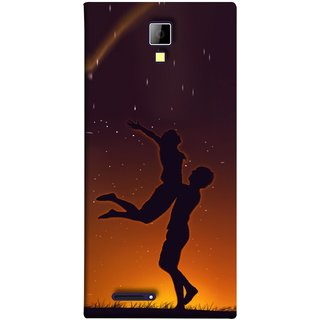 FUSON Designer Back Case Cover for Micromax Canvas Xpress A99 :: Micromax A99 Canvas Xpress (Milky Way Stars Love Couples Lovers Family Love)