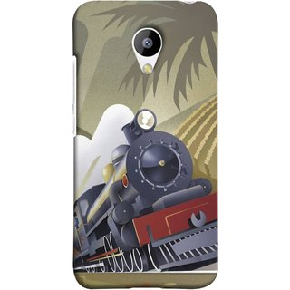 FUSON Designer Back Case Cover for Meizu M3 (British Steam Engine Trains Express Mail )