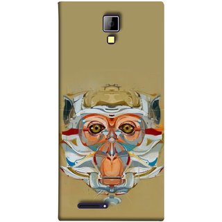 FUSON Designer Back Case Cover for Micromax Canvas Xpress A99 :: Micromax A99 Canvas Xpress (Multicolour Cat Monkey King Animal Tree )