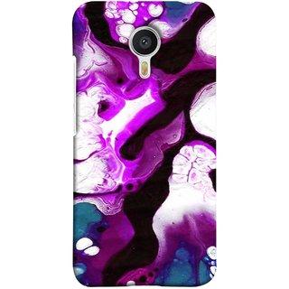 FUSON Designer Back Case Cover for Meizu M3 Note :: Meizu Note 3 (Purple Painting Wallpaper White Iceberg River Flow)