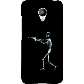 FUSON Designer Back Case Cover for Meizu M3 (Incredible Human Xray Pictures Revolver Icon In Black)