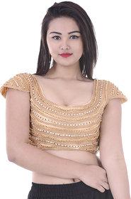 Indian Handicraft Women's Net Saree Blouse Size-32