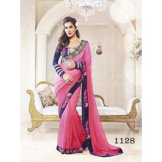 Priyanka  Women's Jacquard Fancy Thread Work Saree (Latest Designer Sarees /Party wear sarees /New collection sarees) SUNSAF1128pink