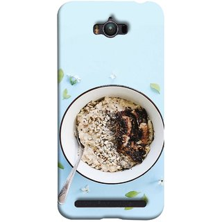 FUSON Designer Back Case Cover For Asus Zenfone Max ZC550KL :: Asus Zenfone Max ZC550KL 2016 :: Asus Zenfone Max ZC550KL 6A076IN (Bowl Of Breakfast Cereal With Milk And Spoon)