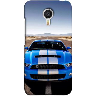 FUSON Designer Back Case Cover for Meizu M3 Note :: Meizu Note 3 ( Road Shelby Mustang Engine Shelby Beautiful Blue)