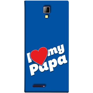 FUSON Designer Back Case Cover for Micromax Canvas Xpress A99 :: Micromax A99 Canvas Xpress (Hearts Stars Daddy Father Stars Heart Colourful Lovely)