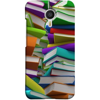 FUSON Designer Back Case Cover for Meizu M3 Note :: Meizu Note 3 (Stack Of Colorful Books White Pages School)