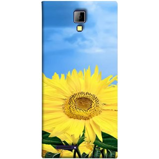 FUSON Designer Back Case Cover for Micromax Canvas Xpress A99 :: Micromax A99 Canvas Xpress (Field With Bright Blue Sky Summer Sunlight Leaves)