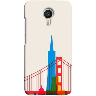 FUSON Designer Back Case Cover for Meizu M3 Note :: Meizu Note 3 (Astounding Skyscrapers Of Remarkable Architectural)