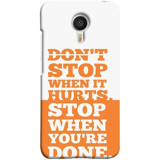 FUSON Designer Back Case Cover for Meizu M3 Note :: Meizu Note 3 (Stop When You Are Done Always See Targets )