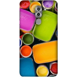FUSON Designer Back Case Cover For Huawei Honor 6X (Cans And Paint On Colour Background Bright Full Joy )