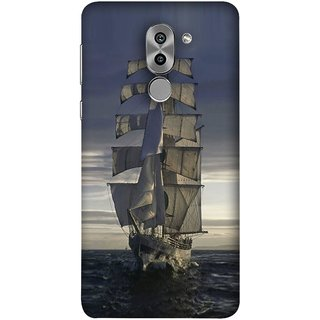 FUSON Designer Back Case Cover For Huawei Honor 6X (Beautiful Big Ship In Ocean Vintage Tall High)