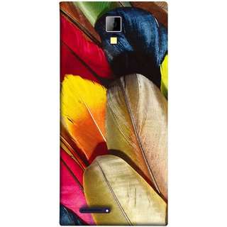 FUSON Designer Back Case Cover for Micromax Canvas Xpress A99 :: Micromax A99 Canvas Xpress (Yellow Balck Brown Golden Gold Silver Parrot Red )