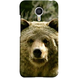 FUSON Designer Back Case Cover for Meizu M3 Note :: Meizu Note 3 (Bhalu Looking At You Animal Forest Green Background)