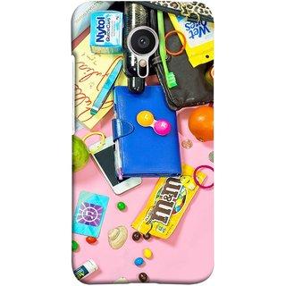 FUSON Designer Back Case Cover for Meizu MX5 (Iphone Keys Coins Jellys Sea Shells Purse )