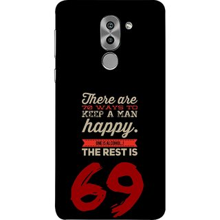FUSON Designer Back Case Cover For Huawei Honor 6X (One Is Alcohol The Rest Is Sixty Nine Ways)