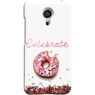 FUSON Designer Back Case Cover for Meizu MX5 (Pink Donut Eating Lots Of Jellybeans Childrens Fevourite)