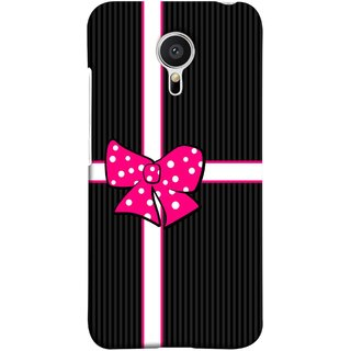 FUSON Designer Back Case Cover for Meizu MX5 (Gift Box Wrapped In Black And White Striped Paper)