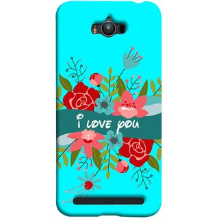 FUSON Designer Back Case Cover For Asus Zenfone Max ZC550KL :: Asus Zenfone Max ZC550KL 2016 :: Asus Zenfone Max ZC550KL 6A076IN (Pink Red Wallpapers Flowers Lovers Boyfriends )