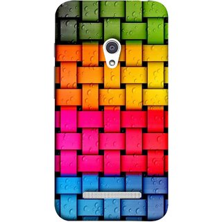 FUSON Designer Back Case Cover For Asus Zenfone 5 A501CG (Bright And Beautiful Colour Strips And Band Glossy)