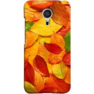 FUSON Designer Back Case Cover for Meizu MX5 (Multicolour Dry Leaves Painting Bright Sunny Day )