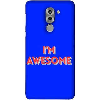 FUSON Designer Back Case Cover For Huawei Honor 6X (I Am Lovely Wow Fact Motivational Inspirational Words)