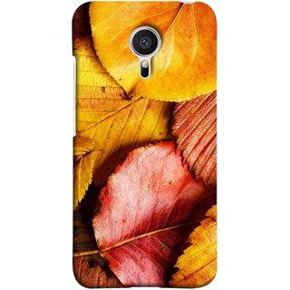 FUSON Designer Back Case Cover for Meizu MX5 (Multicolour Dry Leaves Painting Bright Sunny Day )